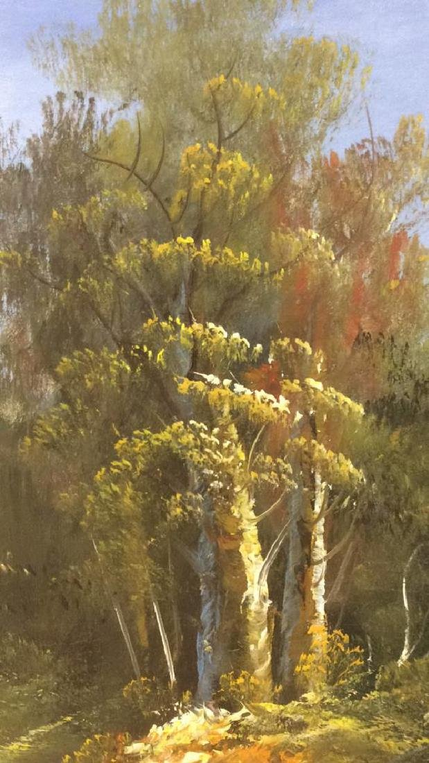 Framed Landscape Acrylic On Canvas - 8
