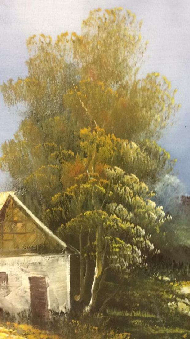 Framed Landscape Acrylic On Canvas - 9
