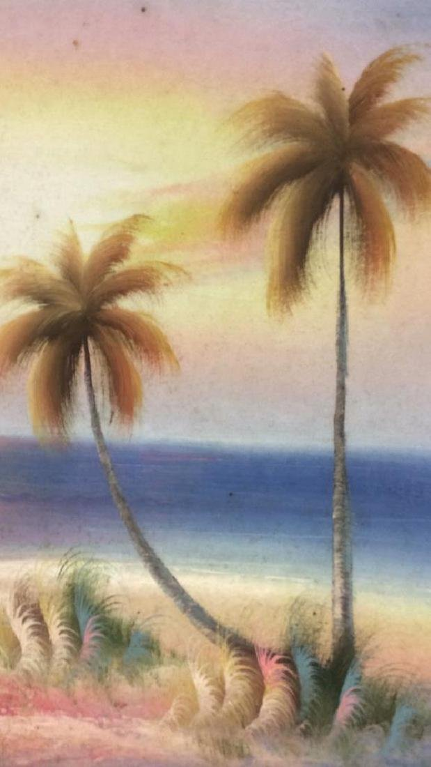 Framed Beach Sunset Landscape Painting On Canvas - 6