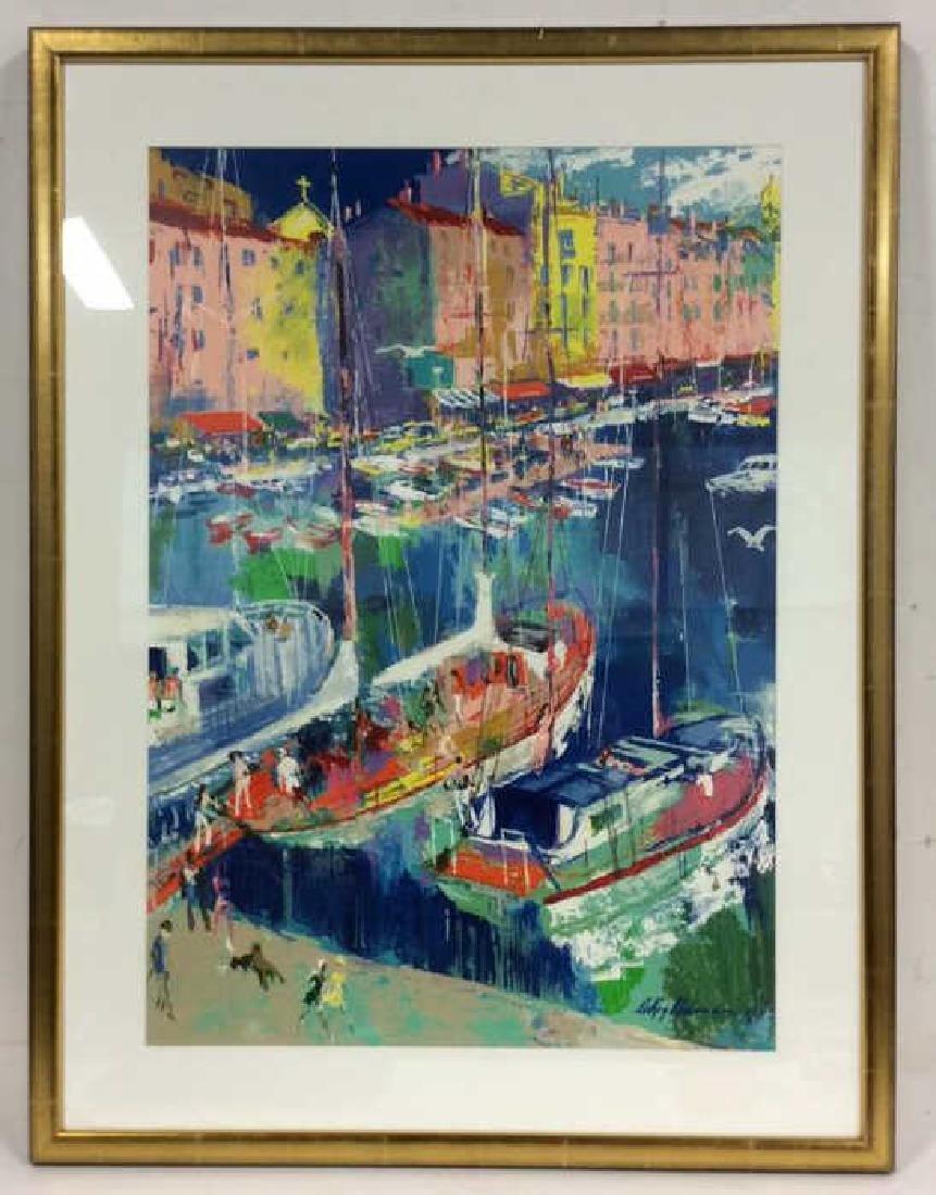 Leroy Neiman St. Tropez Framed Art Print - 2