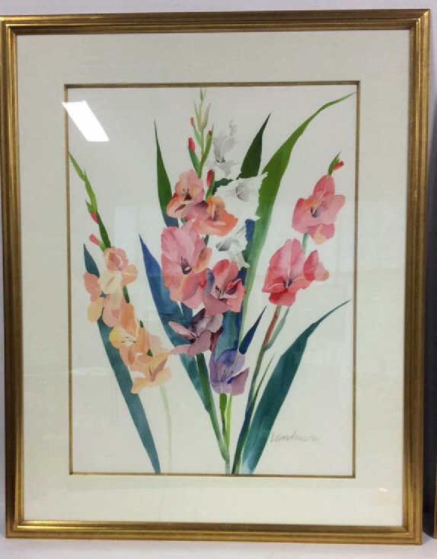 Signed Framed Henderson Floral Watercolor