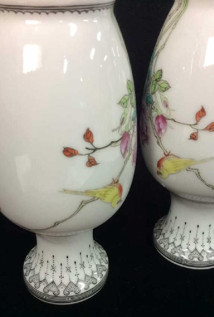 Pair Porcelain Oriental Vases - 5