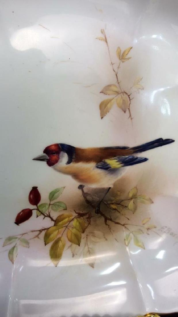 Pair ROYAL WORCESTER Chaffinch Painted Plates - 3