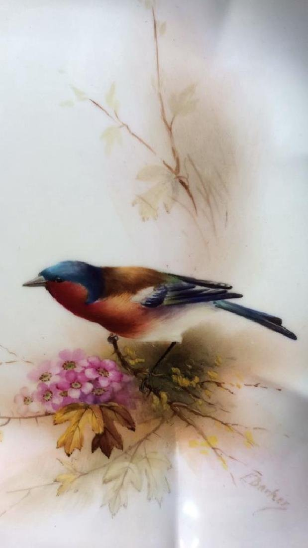 Pair ROYAL WORCESTER Chaffinch Painted Plates - 5