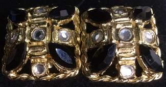 Pair Estate Jewelry Clip Earrings