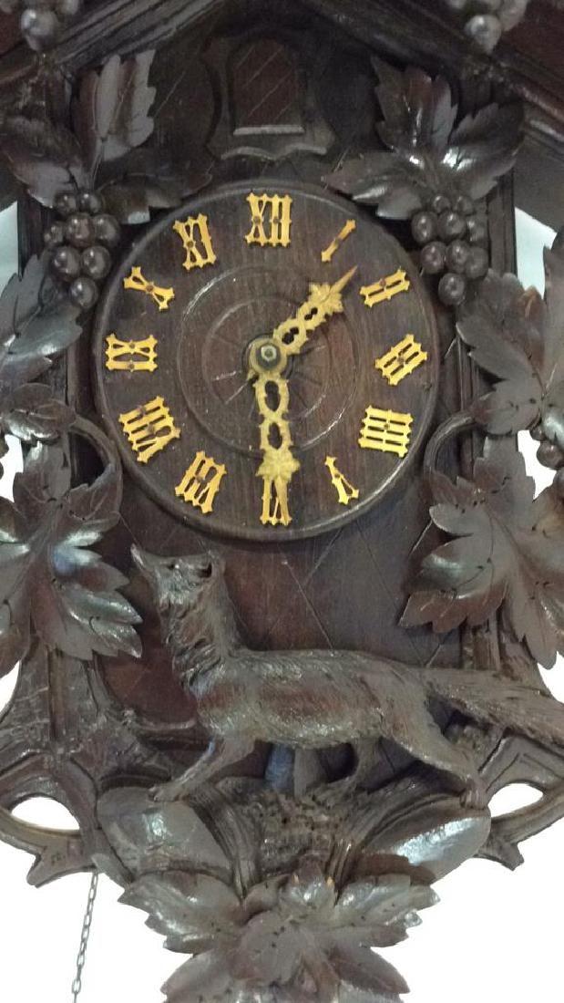 Vintage Carved Black Forest Wood Cuckoo Clock