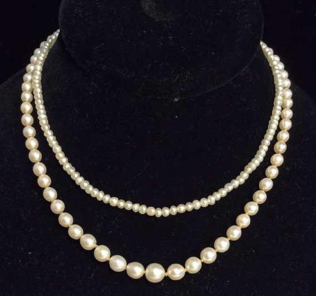 Lot 2 Vintage Pearl Necklaces