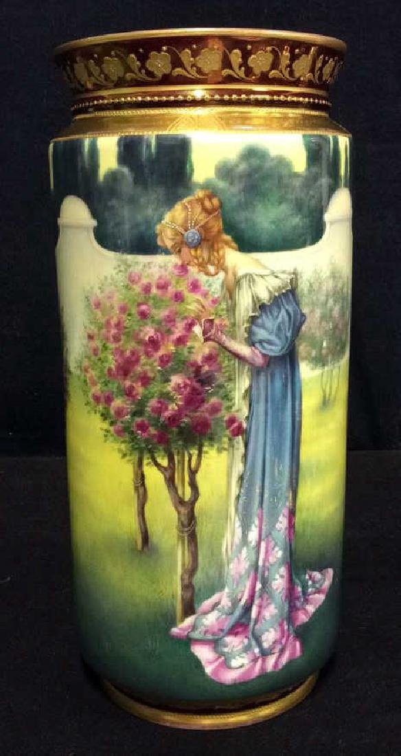 ROYAL VIENNA Art Nouveau Painted Porcelain Vase