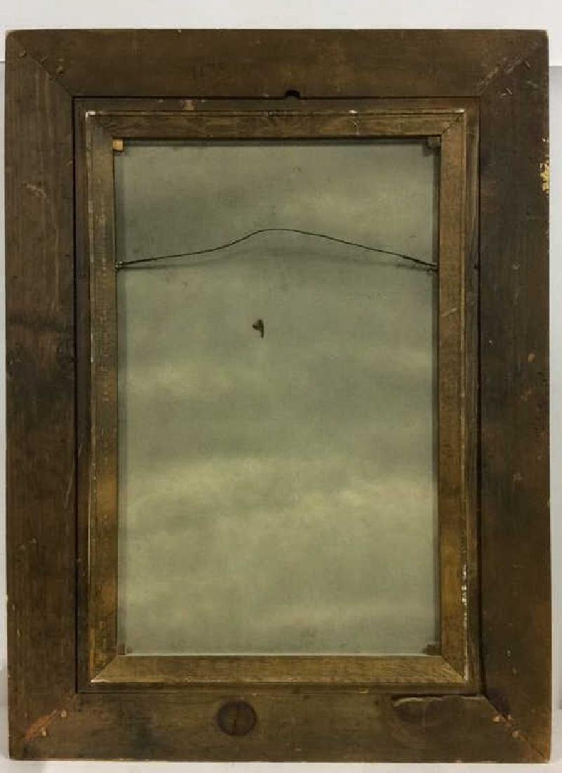 Framed Floral Still Life Print On Canvas W Glaze - 12