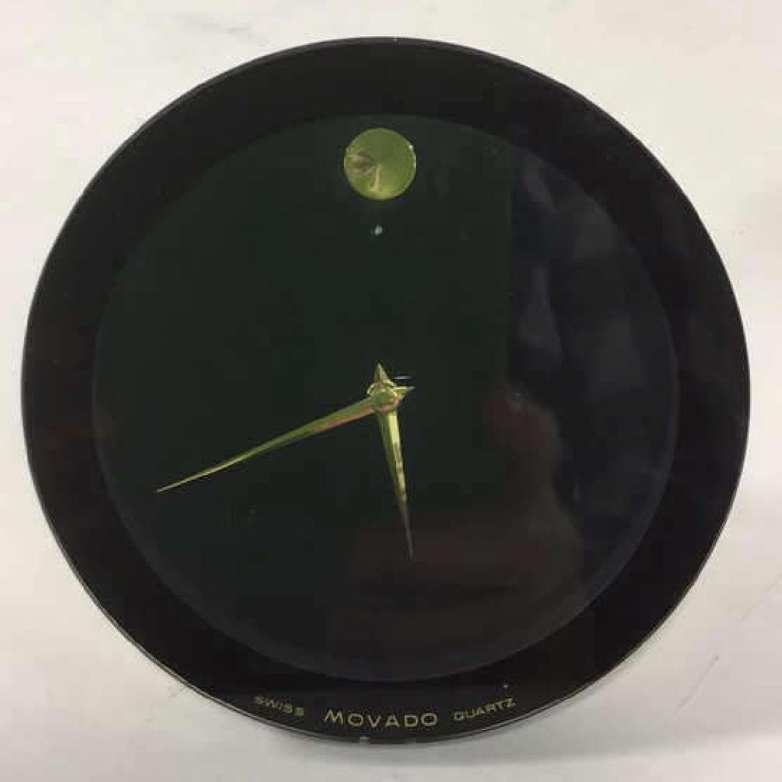 Vintage Movado Swiss Quartz Desk Clock