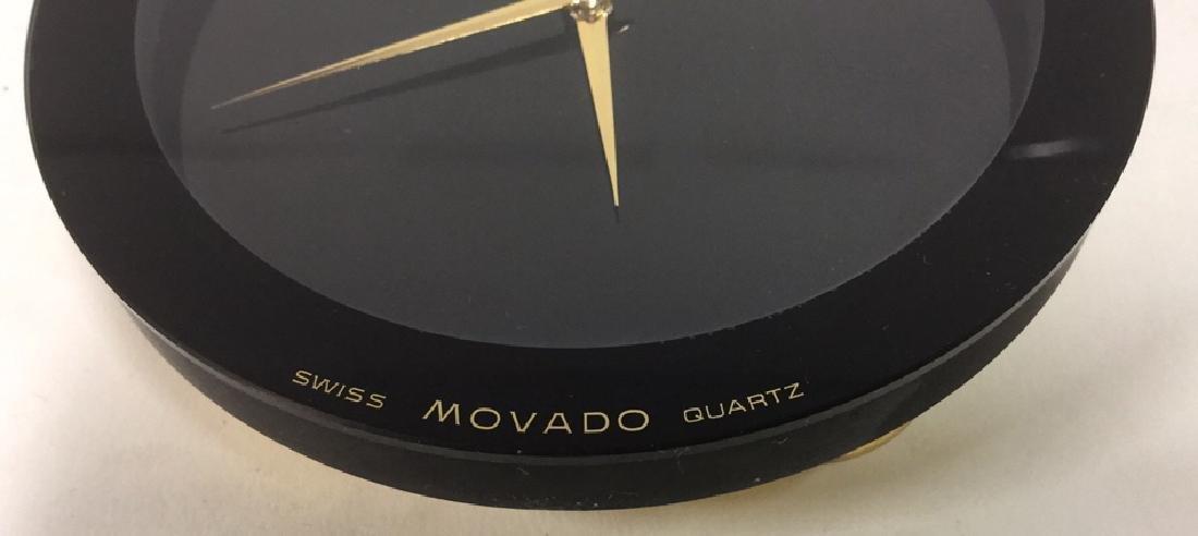 Vintage Movado Swiss Quartz Desk Clock - 5