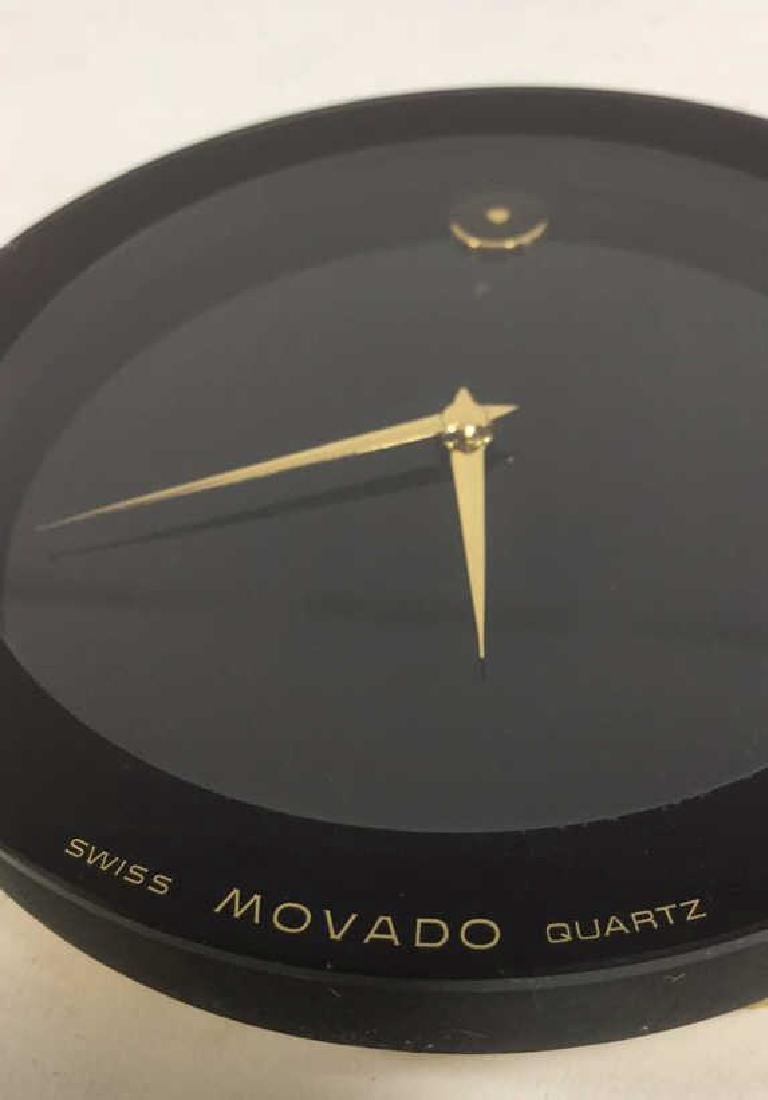Vintage Movado Swiss Quartz Desk Clock - 6
