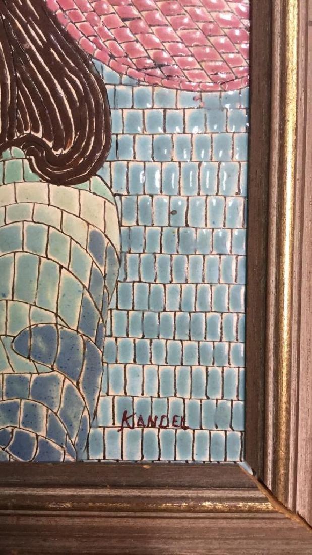 Vintage Tile Art Mosaic By Lucia Leibsohn Kandel - 2