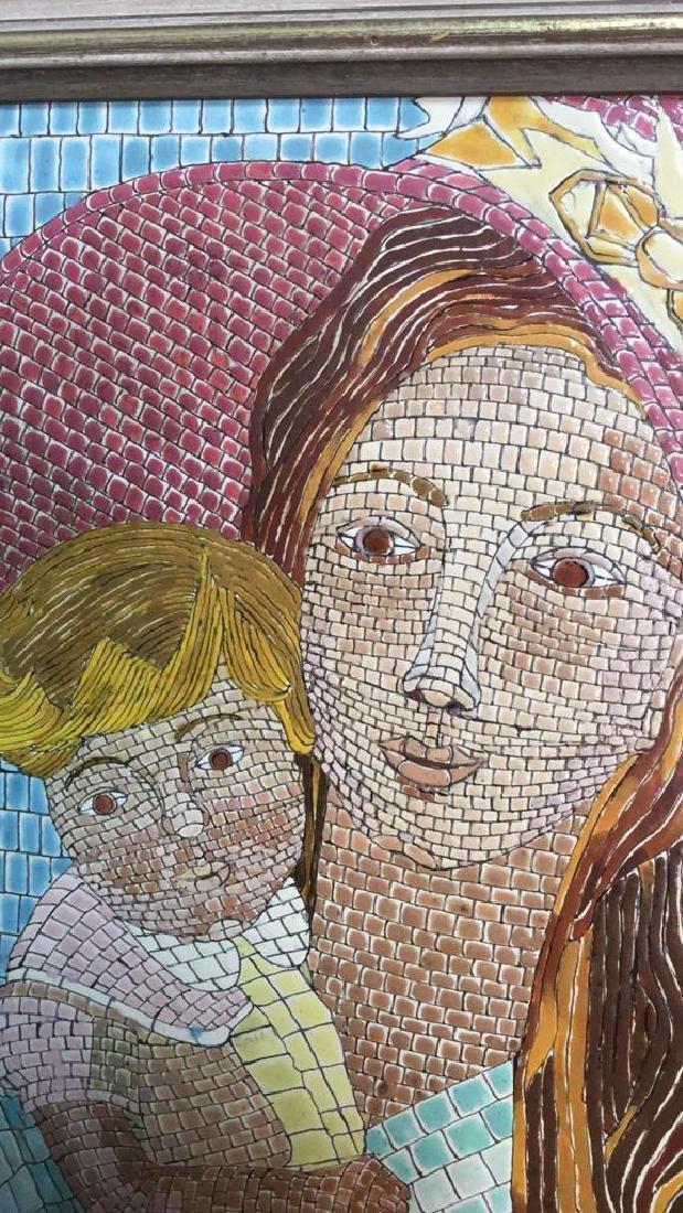 Vintage Tile Art Mosaic By Lucia Leibsohn Kandel - 3