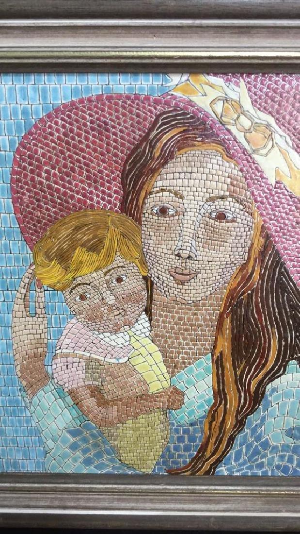 Vintage Tile Art Mosaic By Lucia Leibsohn Kandel - 4