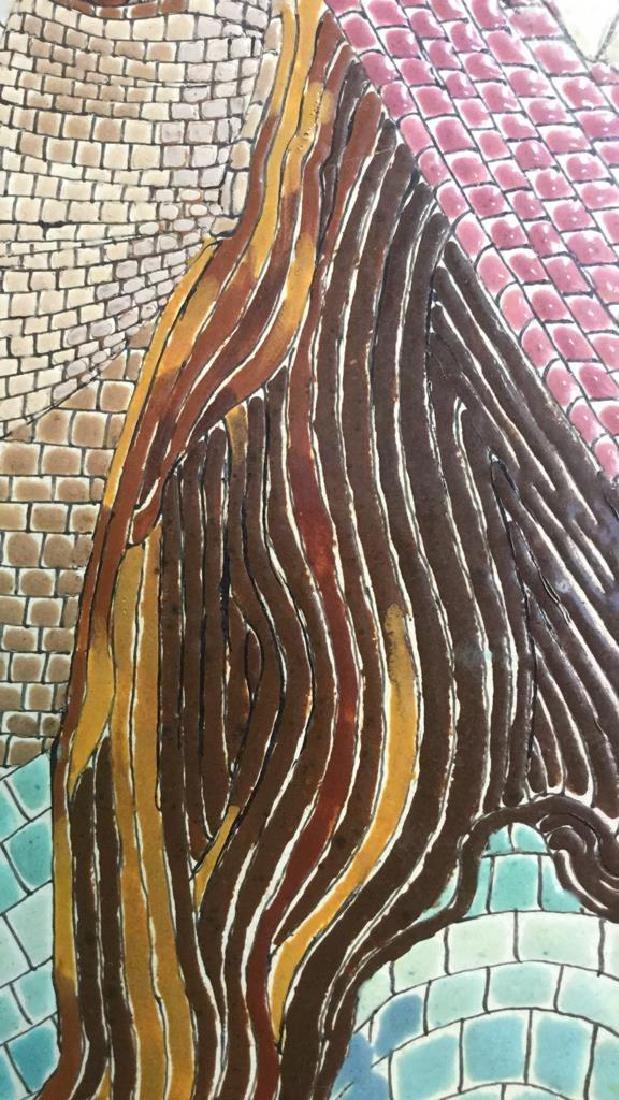 Vintage Tile Art Mosaic By Lucia Leibsohn Kandel - 5