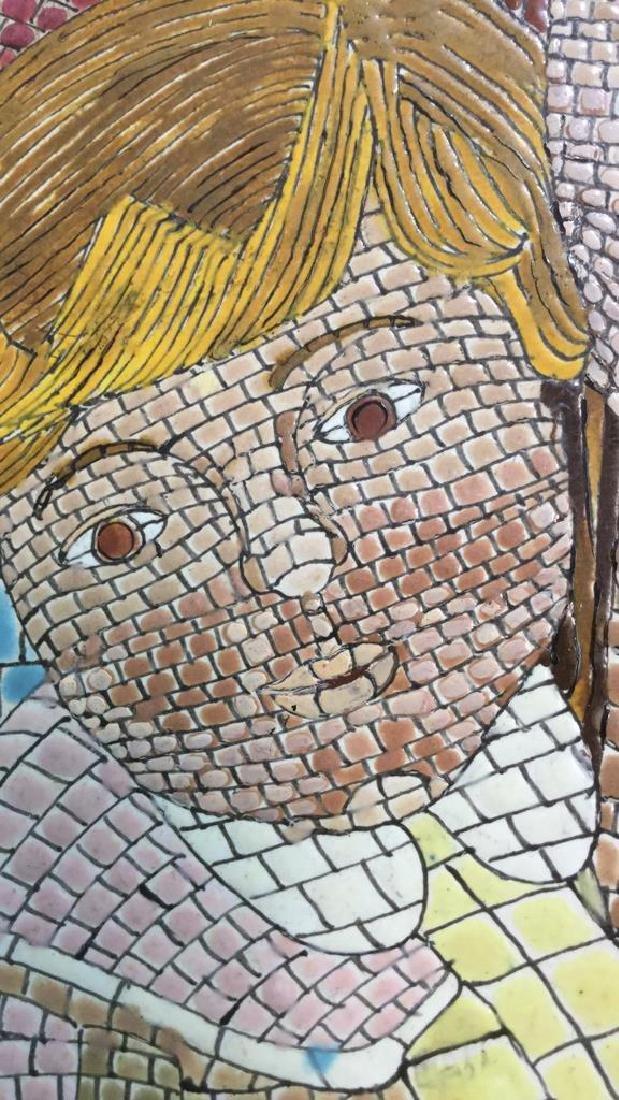 Vintage Tile Art Mosaic By Lucia Leibsohn Kandel - 6