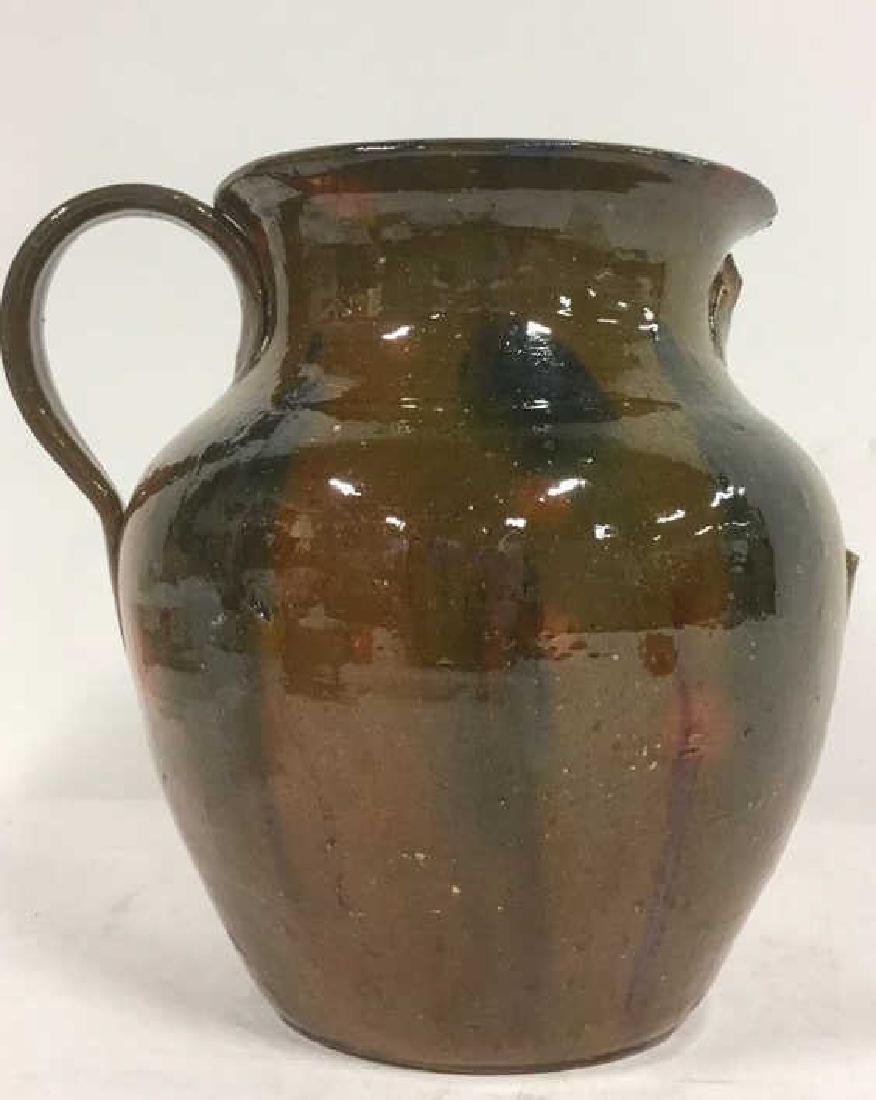 Handmade Studio Art Pottery Vase With Handle - 5