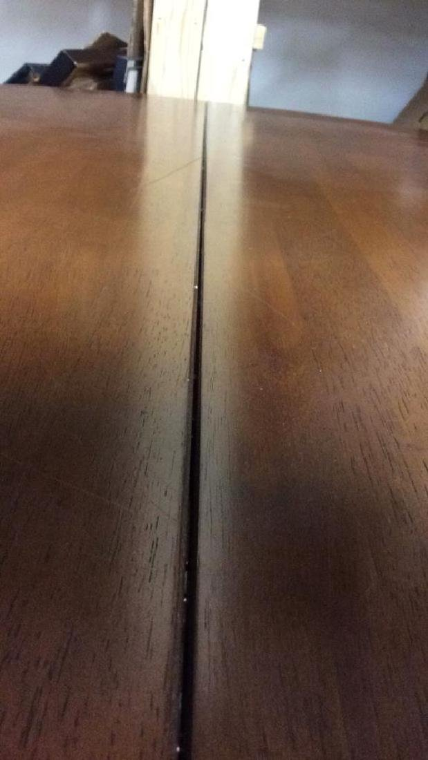 Round Wooden Single Pedestal Dining Table - 5