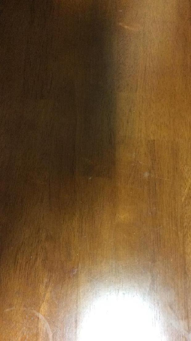 Round Wooden Single Pedestal Dining Table - 9