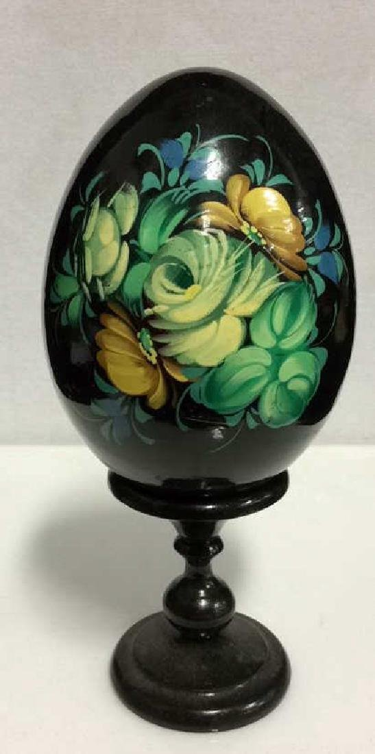 Lot 2 Decorative Painted Eggs, Limoges France and - 2