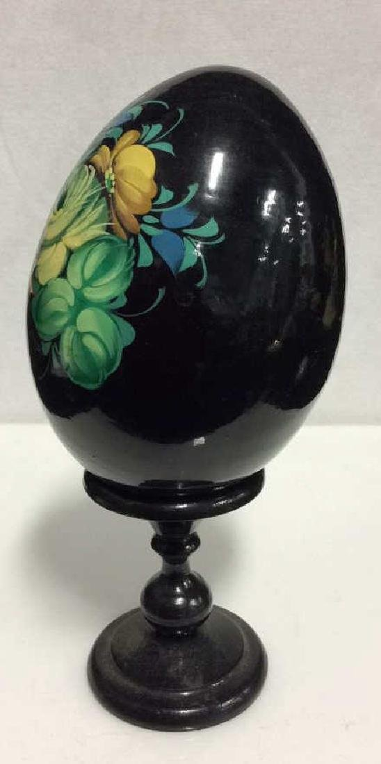 Lot 2 Decorative Painted Eggs, Limoges France and - 3