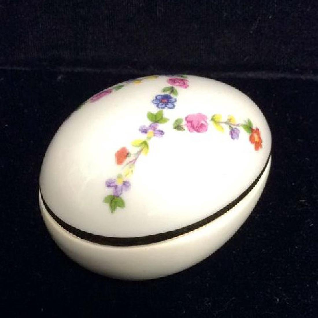 Lot 2 Decorative Painted Eggs, Limoges France and - 6