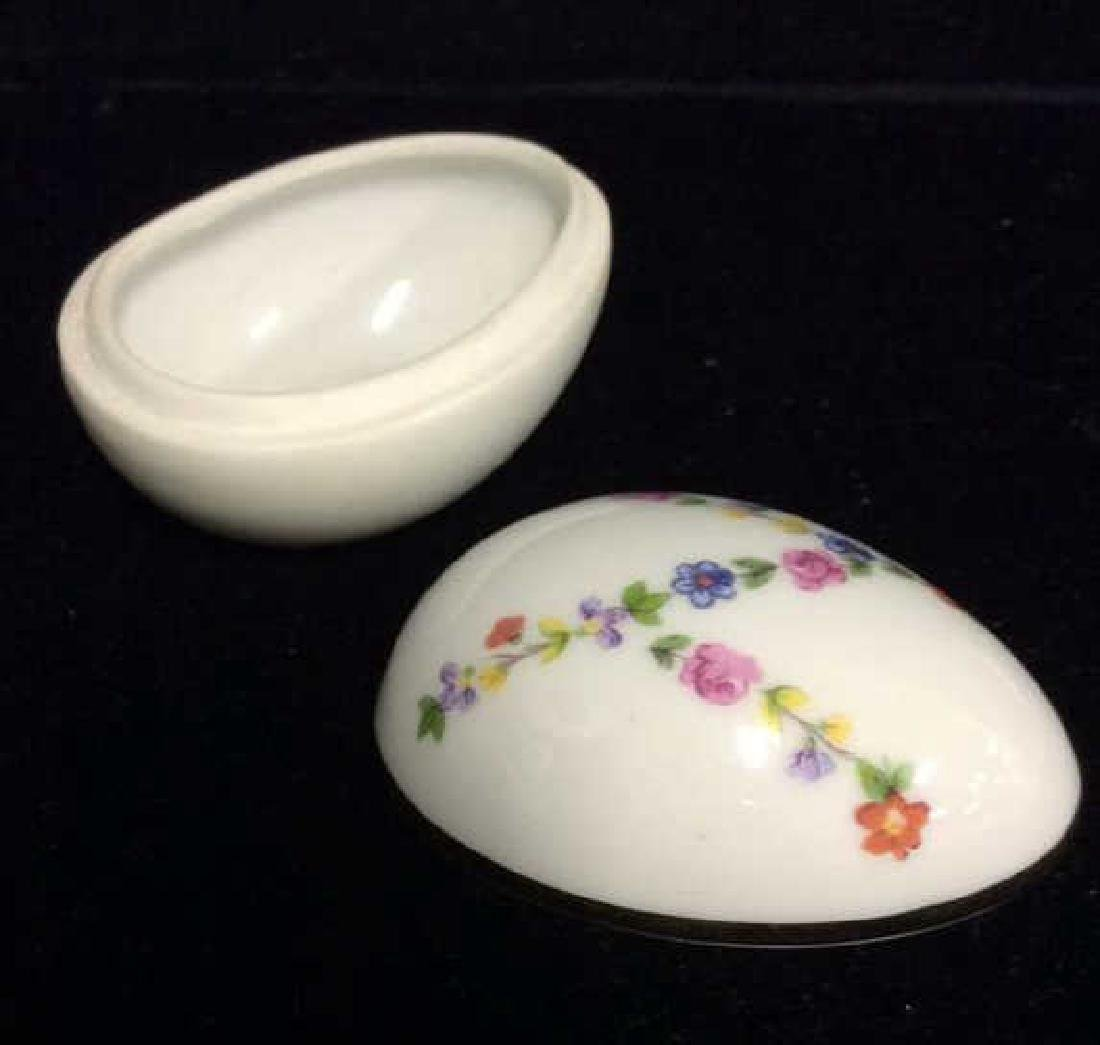 Lot 2 Decorative Painted Eggs, Limoges France and - 7