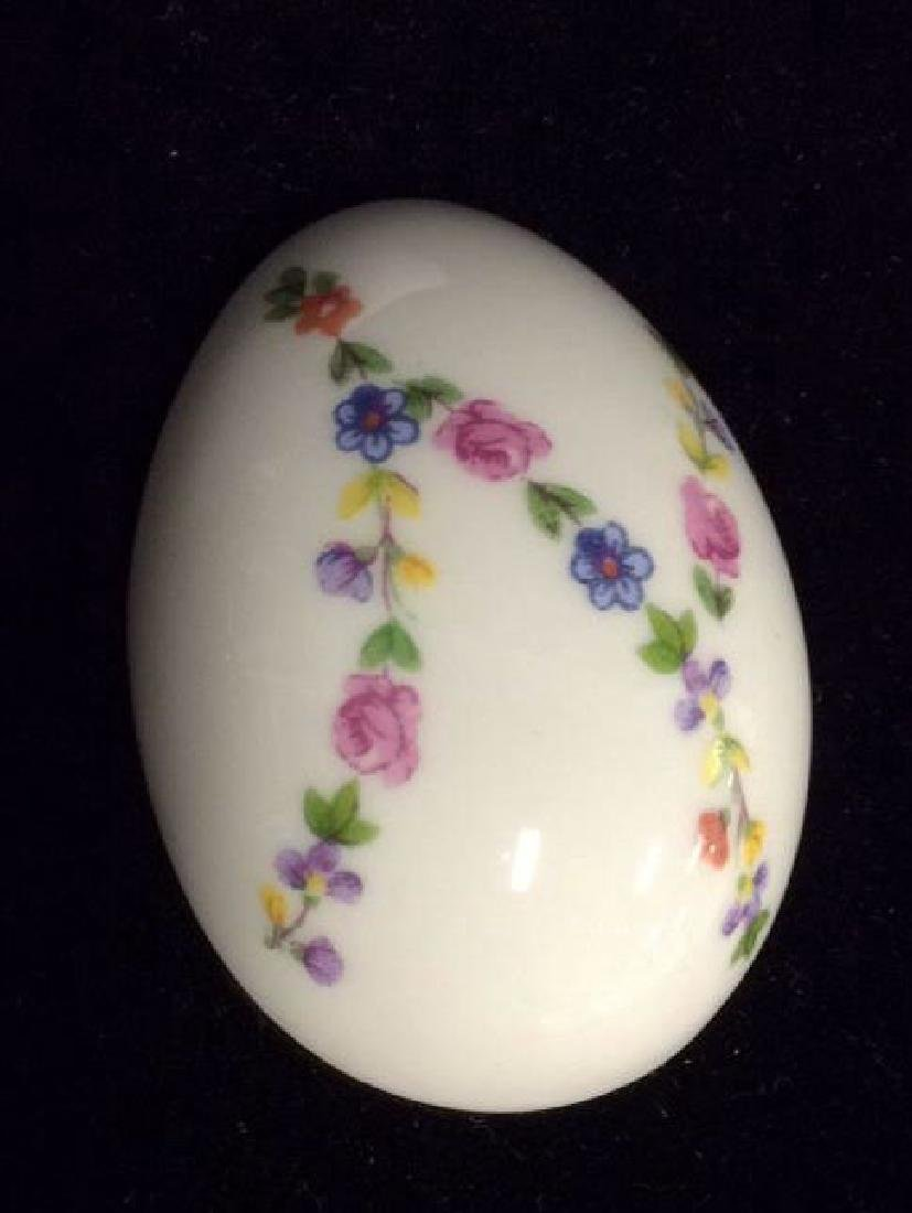 Lot 2 Decorative Painted Eggs, Limoges France and - 8