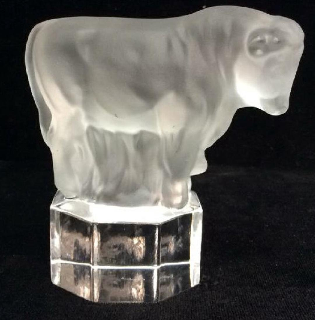 GOEBEL Bull Figural Crystal Paper Weight