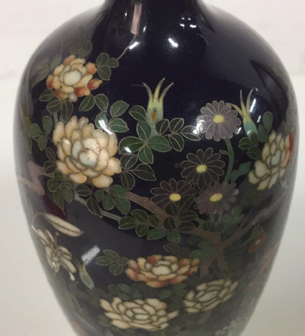 Antique Japanese Flared Neck Cloisonné Vase