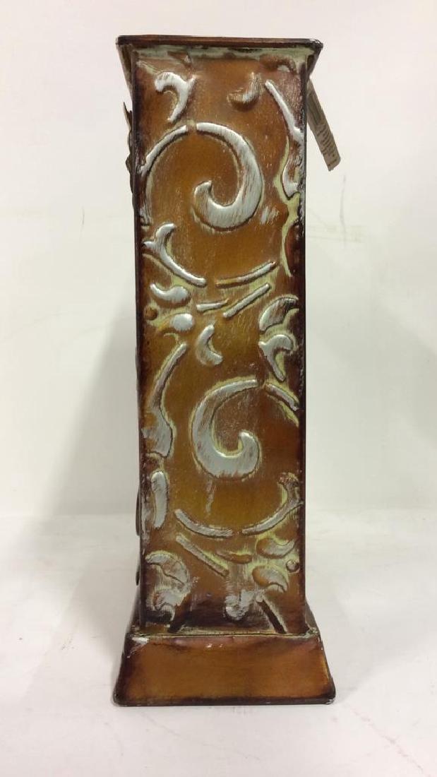 ELEMENTS Brown Metal Leaf Tabletop Clock - 5