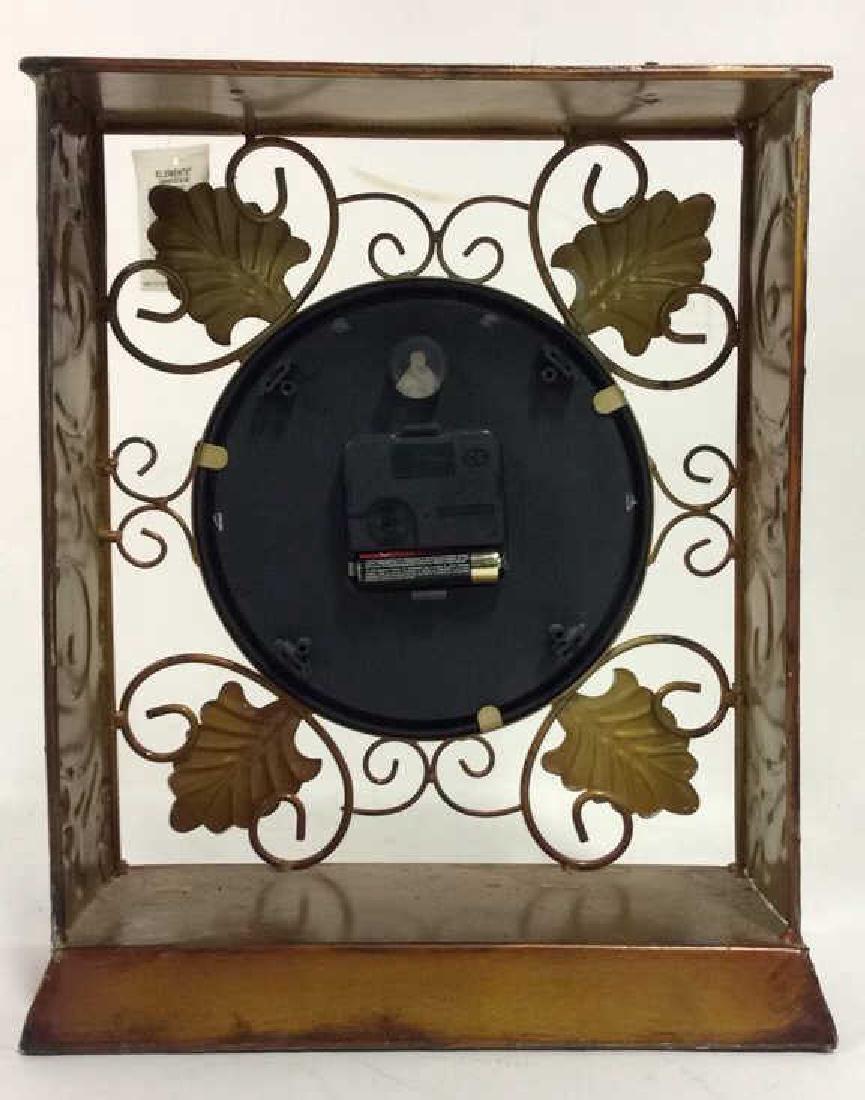 ELEMENTS Brown Metal Leaf Tabletop Clock - 6
