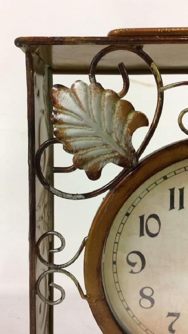 ELEMENTS Brown Metal Leaf Tabletop Clock - 9