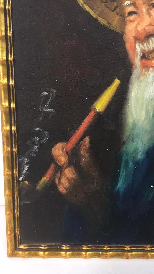 Portrait Painting Of Chinese Man And Pipe - 3