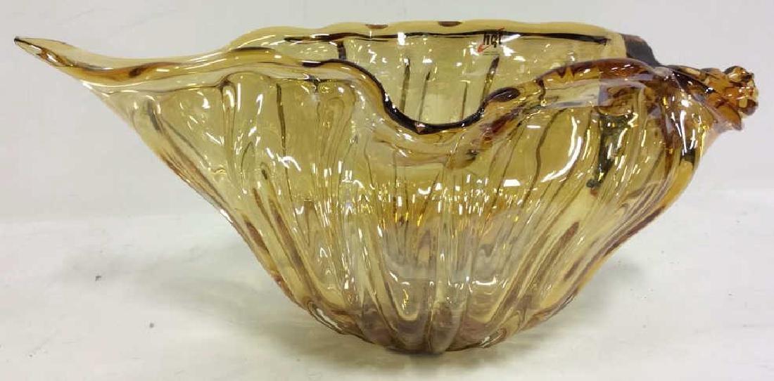 HQT Organic Shaped Art Glass Bowl