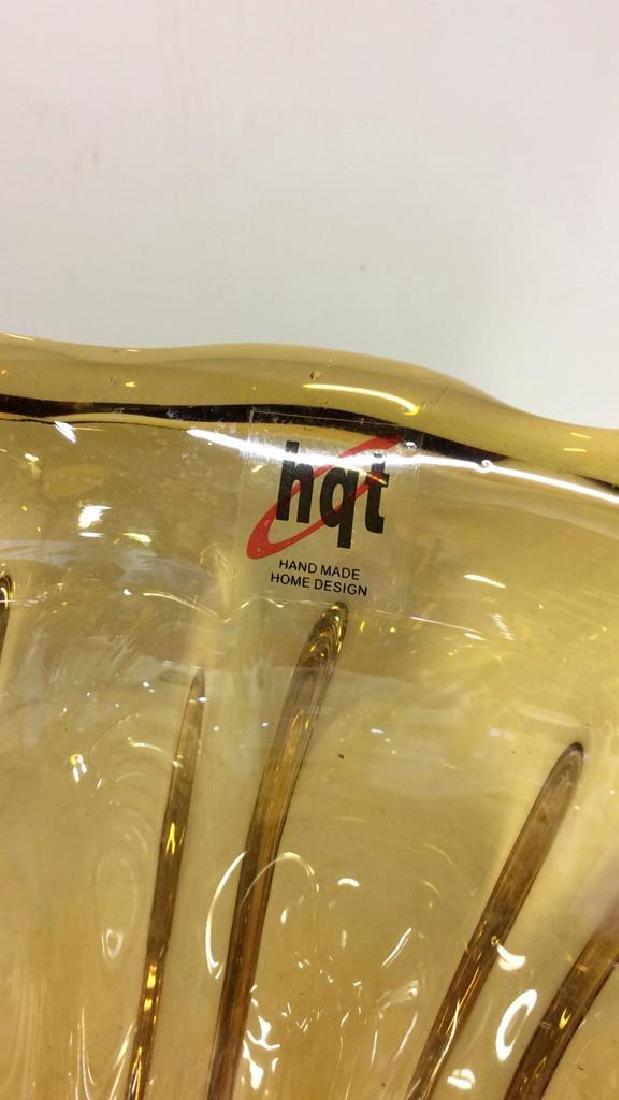 HQT Organic Shaped Art Glass Bowl - 6