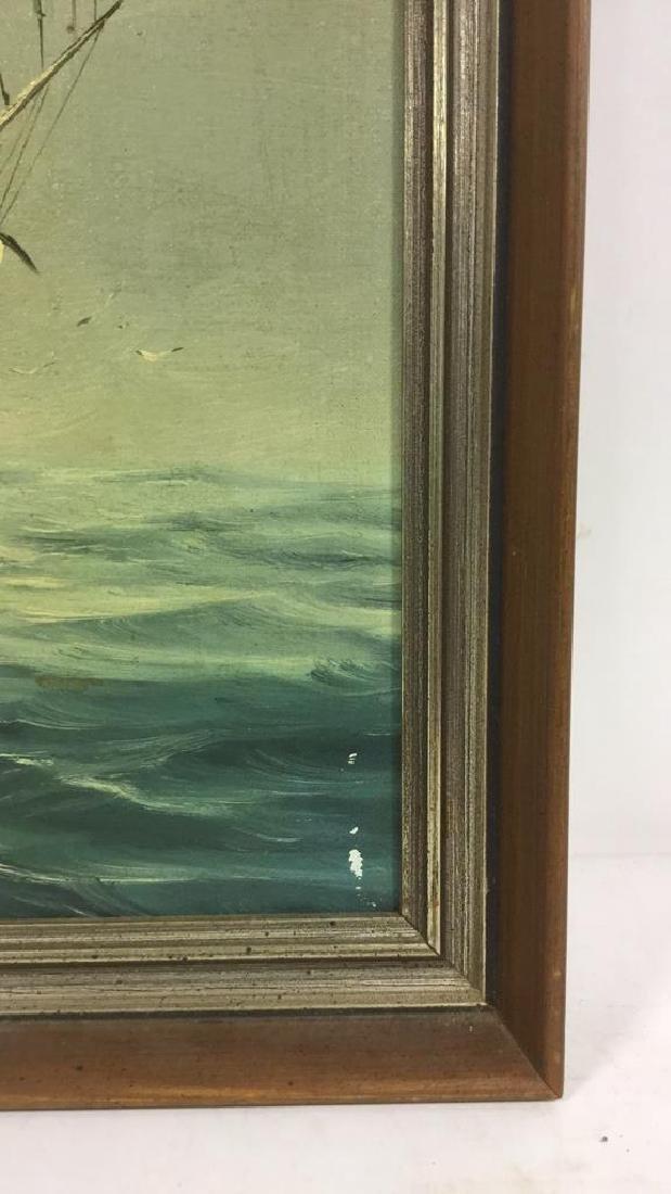 Vintage Sailboat Nautical Painting By Y. Jones - 4