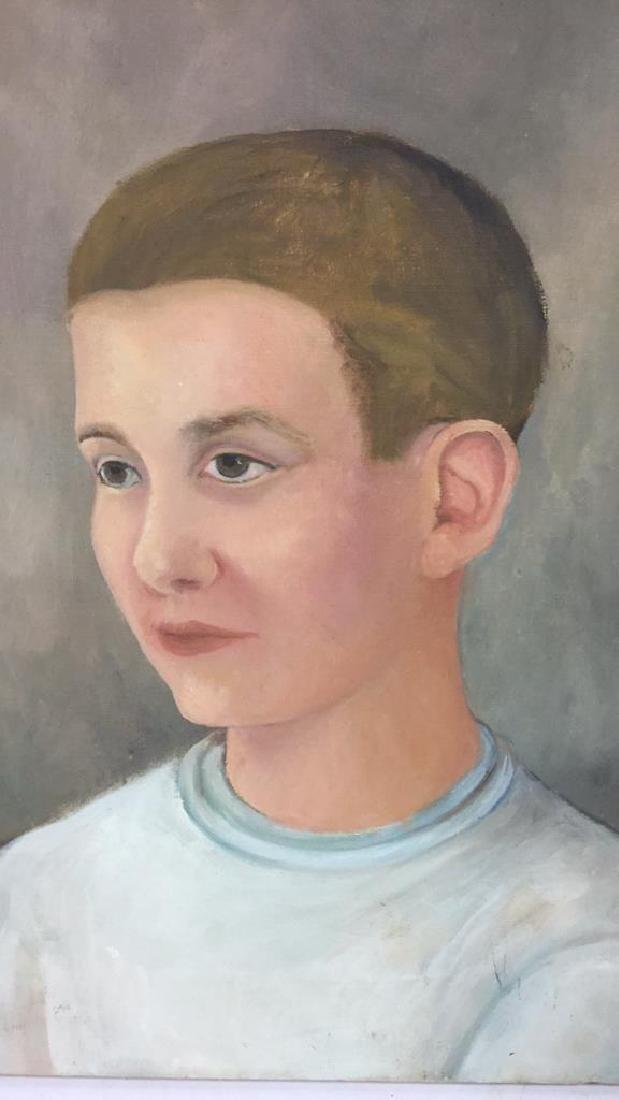 Vintage Portrait Painting Of A Boy