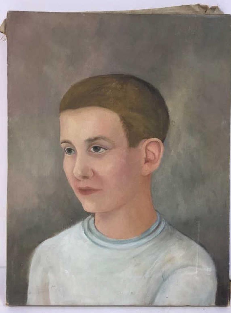 Vintage Portrait Painting Of A Boy - 2