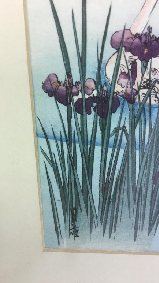 Japanese Style Watercolor Painting Of Swans - 4