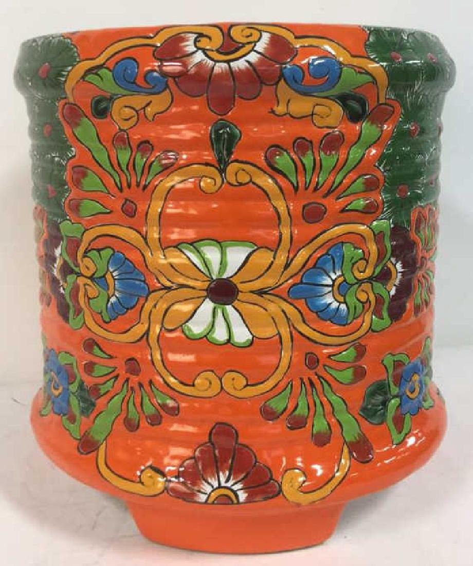 Vibrantly Painted Ceramic Mexican Foot Stool - 6