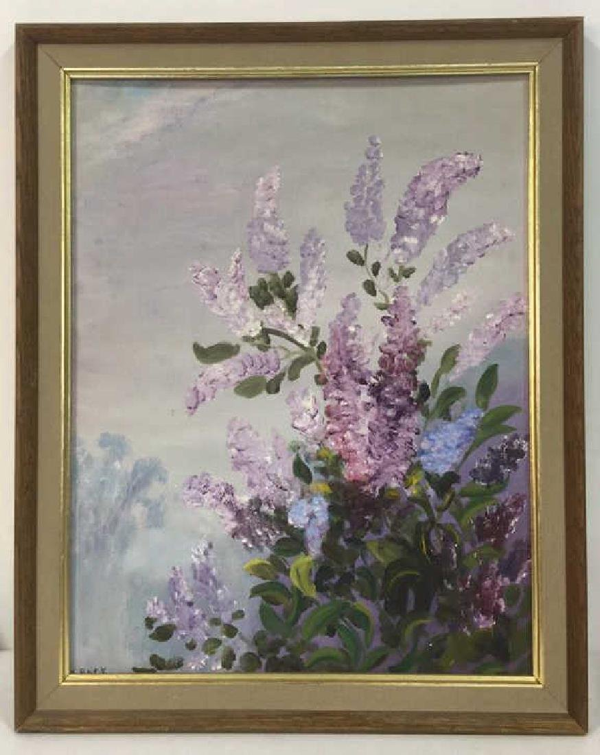 Painting Of Lilacs By M. Rack Titled Misty Lilacs