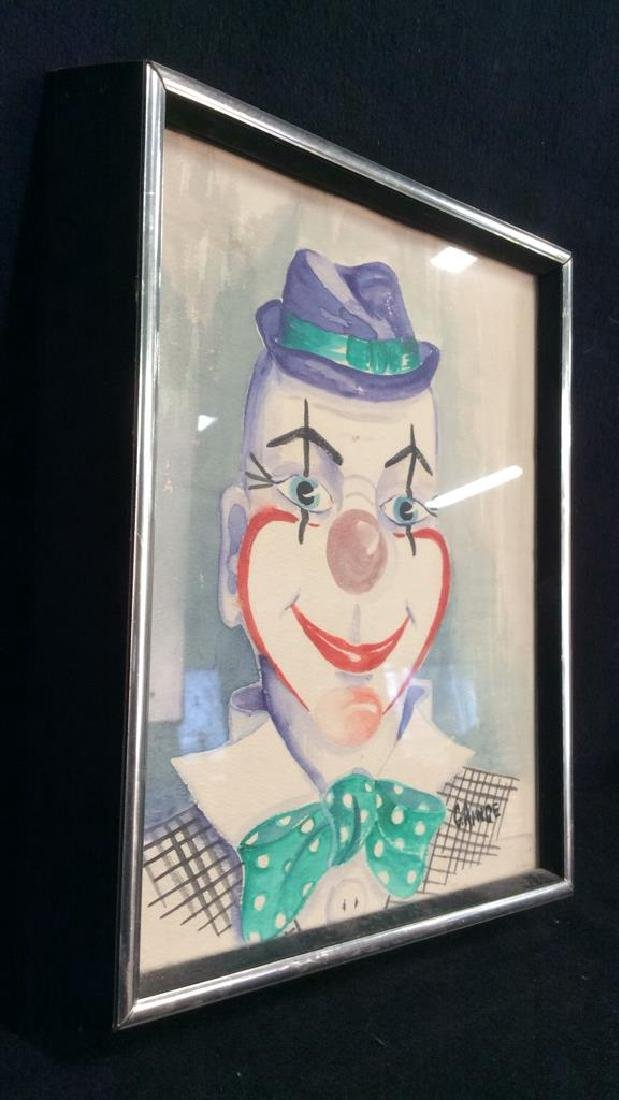 G. AINGE Professionally Framed Clown Artwork - 10