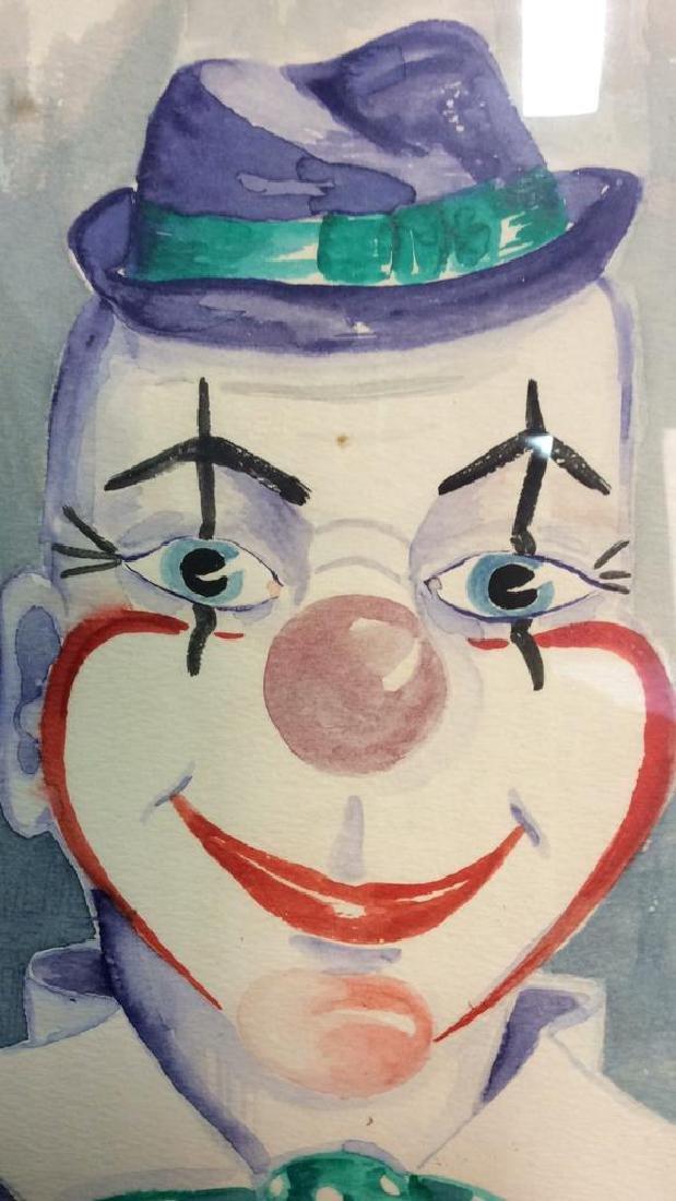G. AINGE Professionally Framed Clown Artwork - 6