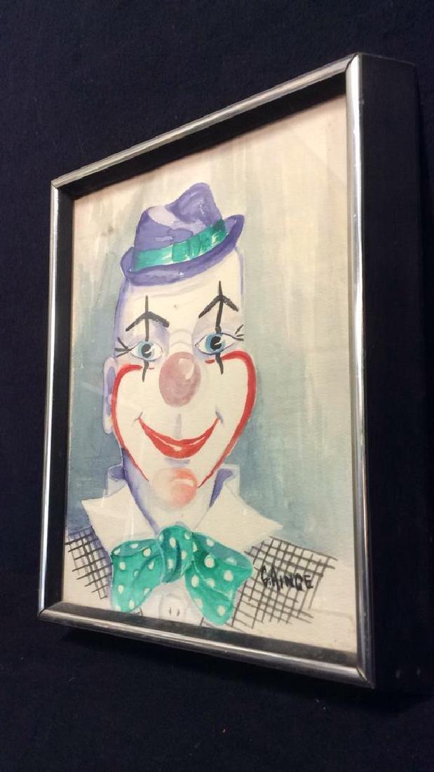 G. AINGE Professionally Framed Clown Artwork - 9