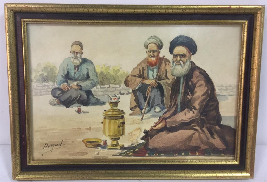 Middle Eastern Watercolor Painting by Demon
