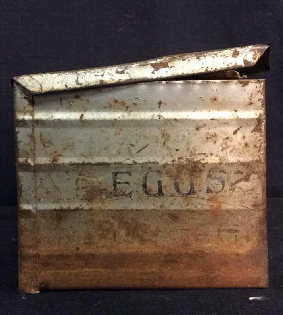 METAL PRODUCTS CO. Antique Metal Egg Crate - 8