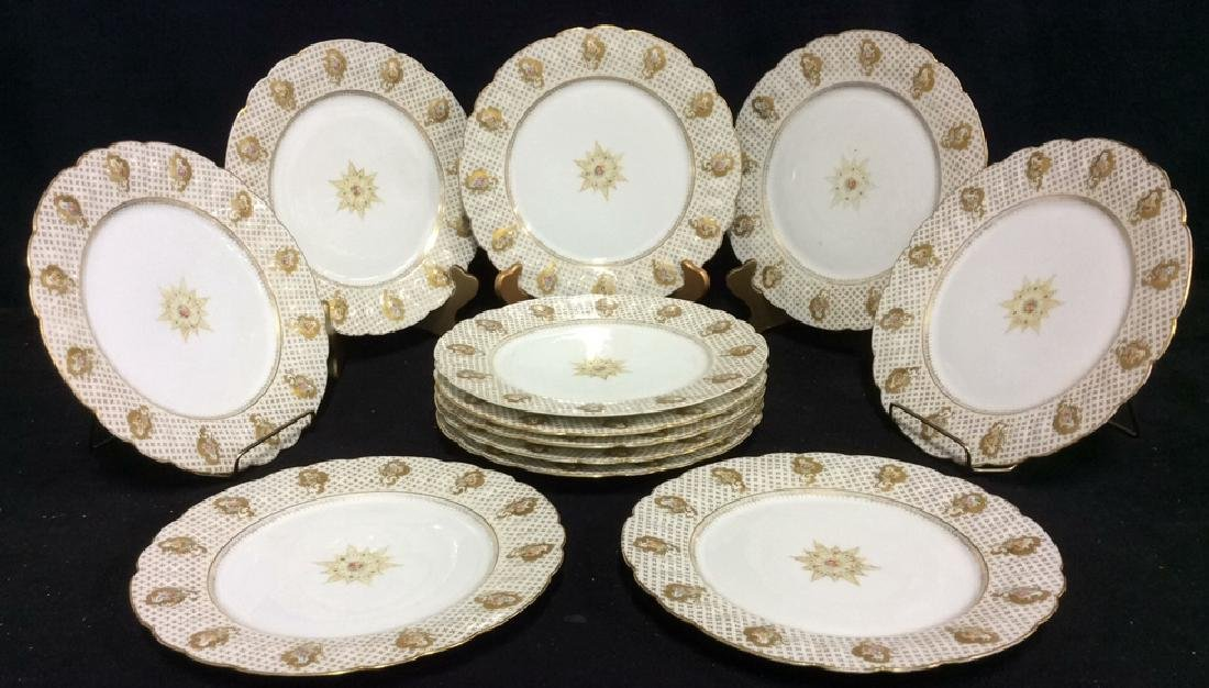Lot 12 LIMOGES FRANCE Porcelain Plates