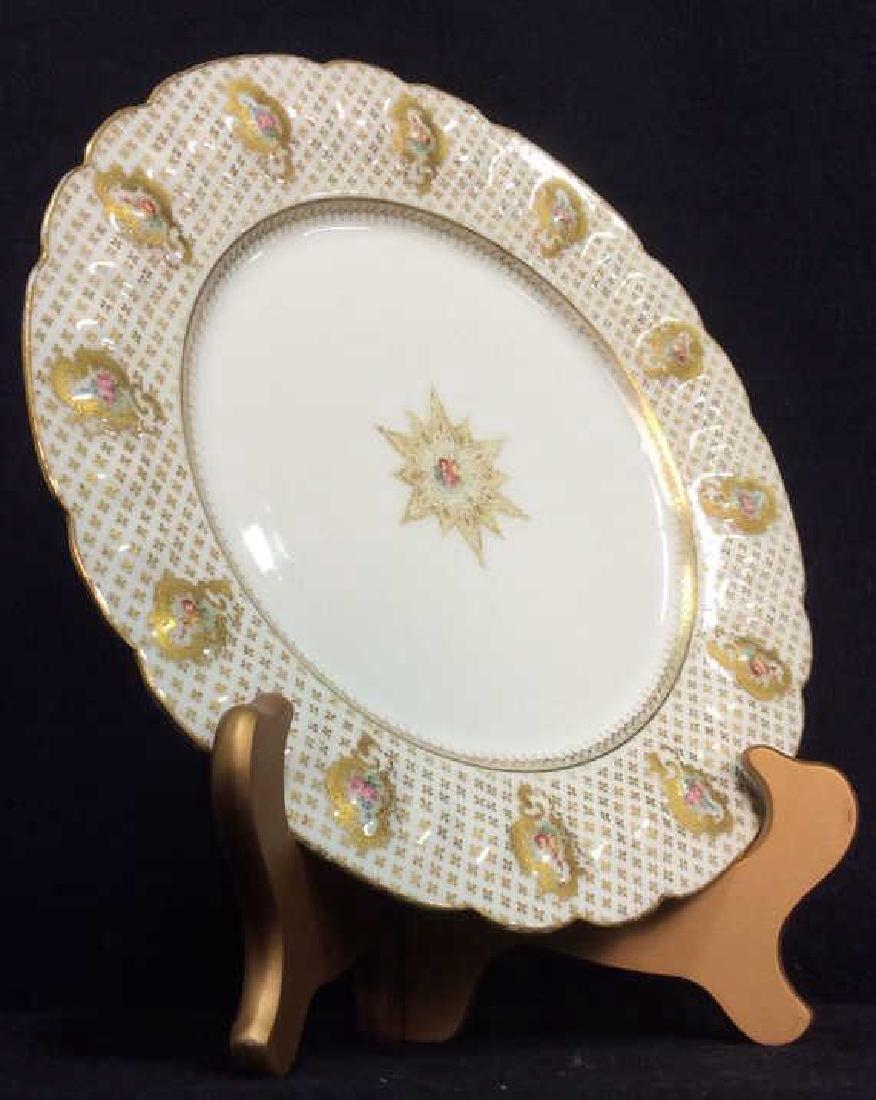 Lot 12 LIMOGES FRANCE Porcelain Plates - 2